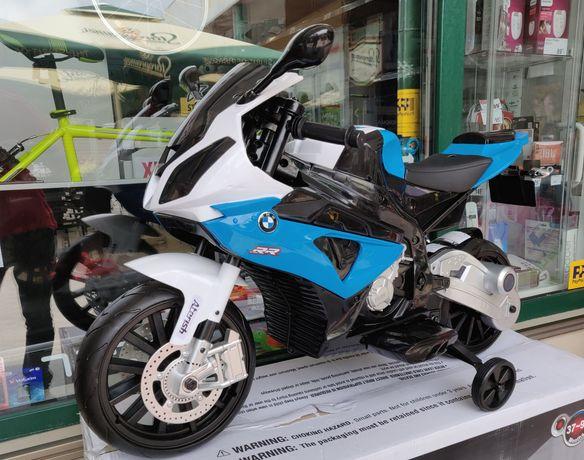 Motocicleta Electrica BMW cu 2 Motoare puternice, 12V, Roti mari Spuma