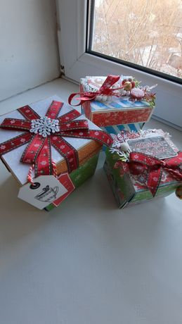 Новогодние подарки , открытки меджик боксы со  скидкой