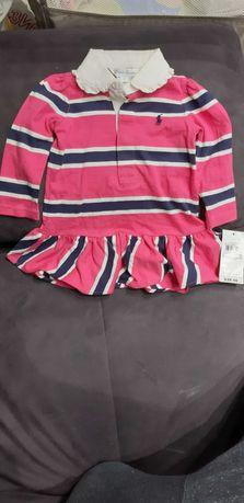 Страхотна оригинална нова бебешка рокличка на Ralf Lauren