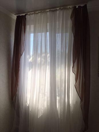 Продам шторы, тюль, большая и маленкая