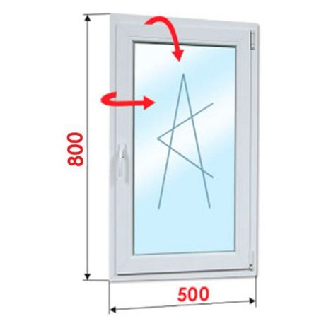 ПВЦ Прозорец 500х800