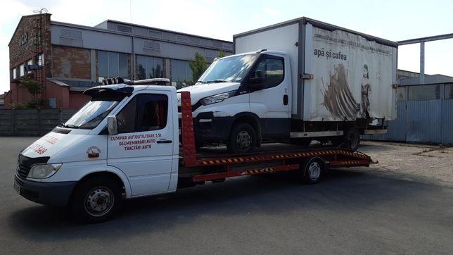 Tractari auto transport rulote utilaje dube platforma auto non stop