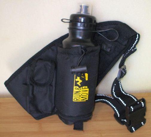 Centura talie / geanta / borseta cu recipient de plastic pt. bautura