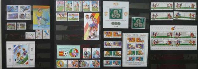 Colectie  timbre nestampilate cu tema fotbal