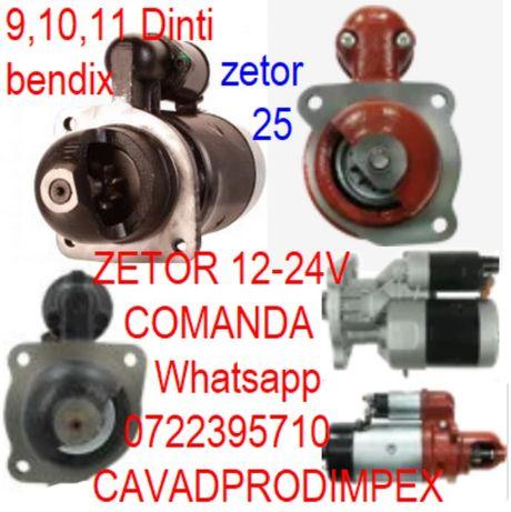 Electromotor tractor Zetor 9,10,11 dinti la bendix 12-24Volti