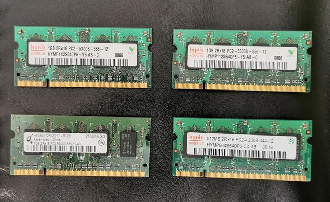 Memorie RAM 1GB DDR2 512MB DDR2 Placa wireless B G N Intel 4965AGN