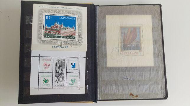 Vand-schimb doua clasoare cu timbre filatelice
