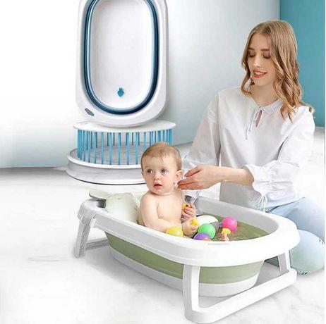 Складная ванна с термометром для новорожденных. Новый