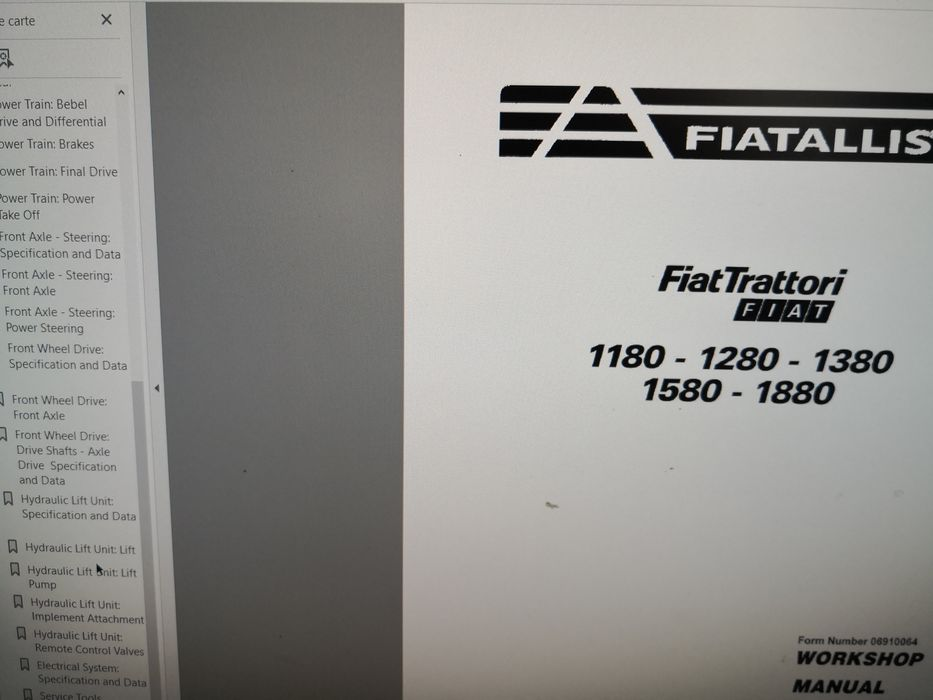 Manual service rar Fiat 1180 1280 1380 1580 1880 reparare FiatAllis Plesoiu - imagine 1