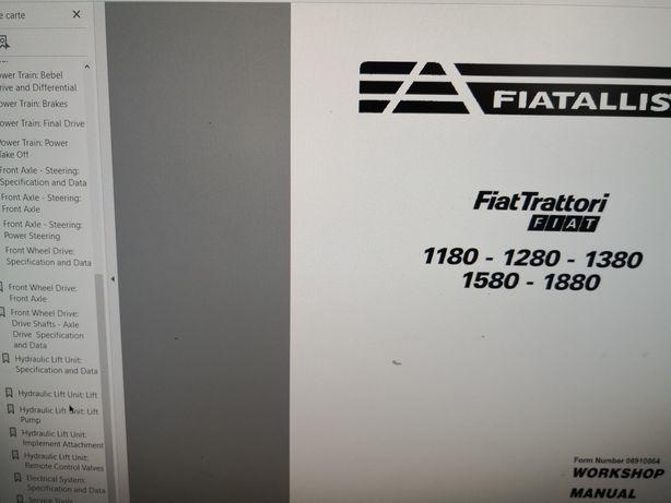 Manual service rar Fiat 1180 1280 1380 1580 1880 reparare FiatAllis
