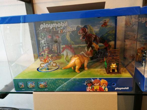 Playmobil колекция с витрина The Explorers