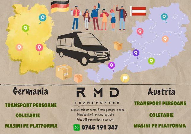 Transport persoane internațional Austria Germania