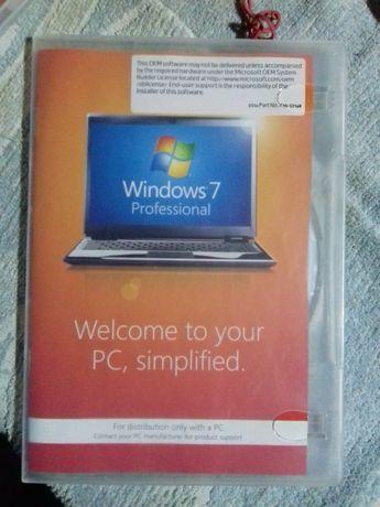 licenta windows 7 profesional -originala, dwd + stiker -5 bucati