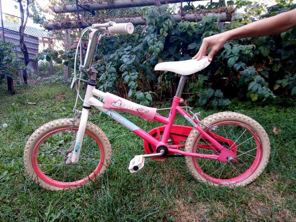 Велосипед ВМХ 10 инча розов