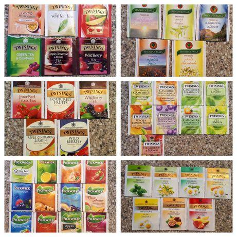 Пакетчета от чай Twinings, Pickwick и Биопрограма (за колекционери)