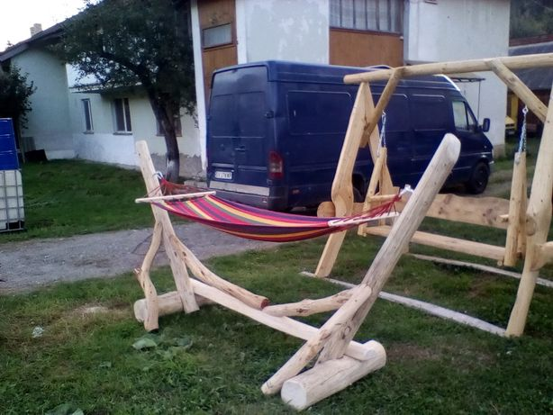 Hamac cu suport lemn rotund