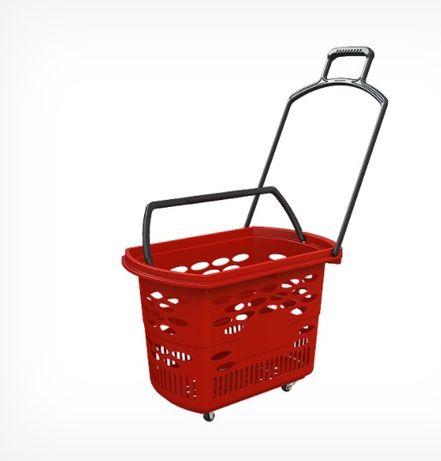 Пазарска кошница с колелца - 38 литра