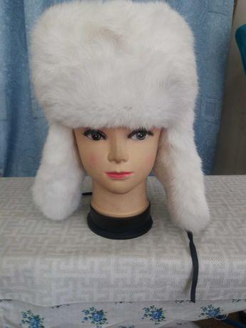шапка из кролика  детская