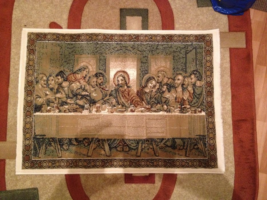Icoana Cina Cea de Taina - țesuta - carpeta,tip covor,noua,autentica