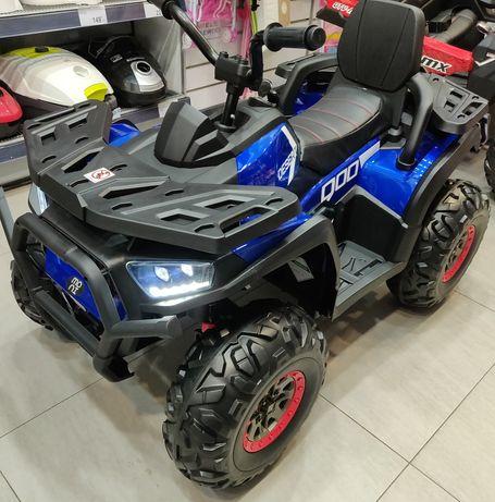 ATV Electric 4×4, Deluxe Premium 4 Mot. 12V, Roti cauciuc EVA, 3-8 Ani