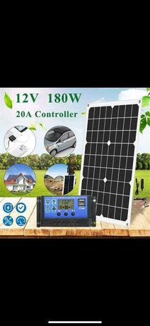 Panou solar fotovoltanic 180w plus controller 20A