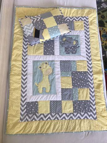 Бебешко пачуърк шалте/постелка и калъфка, подарък възглавничка