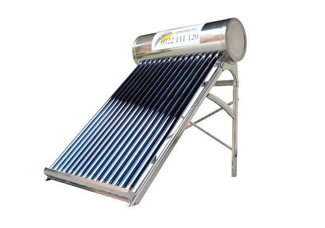 PANOU solar apa calda INOX 130L REZERVOR Apa nepresurizat Controler‼️