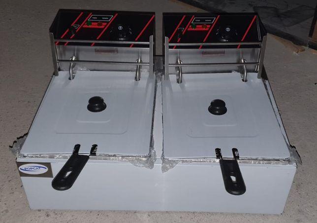Friteuza, fripteuza electrica dubla 6l+6l TRANSPORT INCLUS