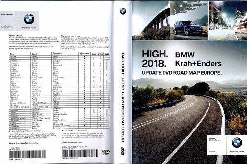 Vand DVD Navigatie BMW Road Map Europe High 2020