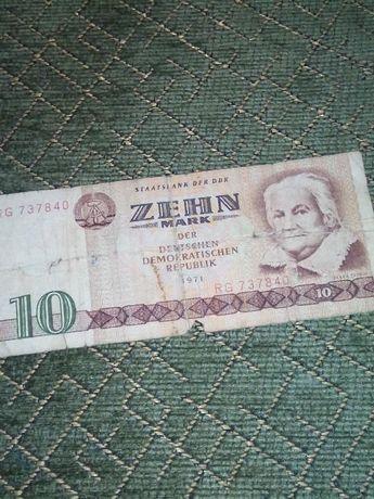 Банкнота от 10 марки ГДР