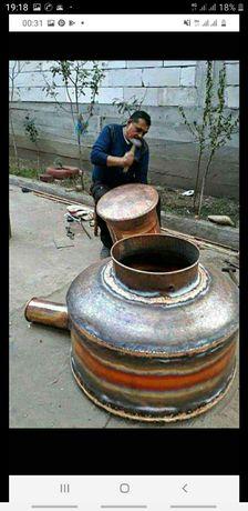 Vand cazan de țuică de cupru de 150 litri