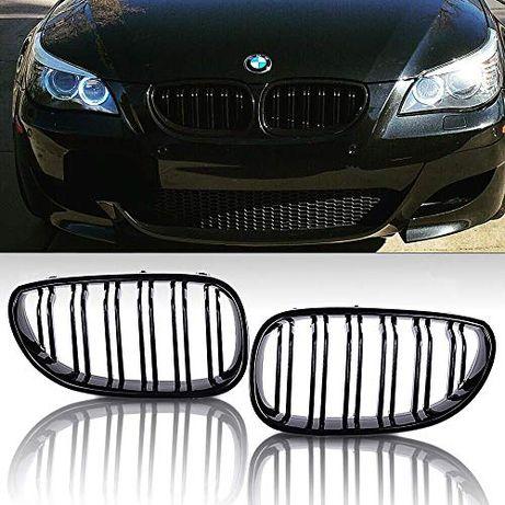 BMW M5 Двойни Бъбреци E60/E61 03-10 БМВ Черни Piano Black Решетки BMW
