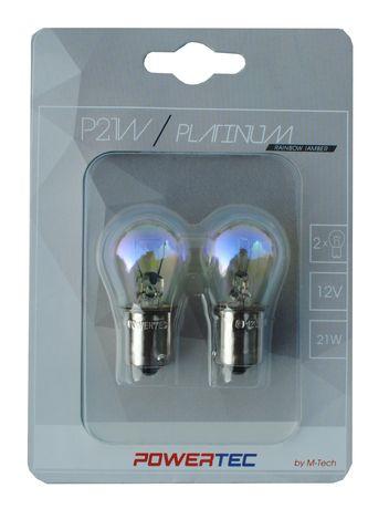 Крушки M-TECH Powertec P21W S25 12V 21W BA15s RAINBOW