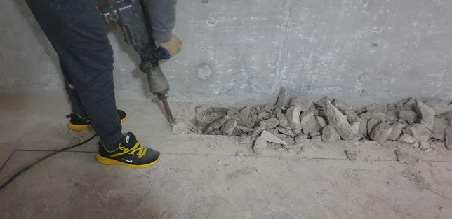 Sparg Beton Demolari constructii Decopertare tencuiala si gresie Buc