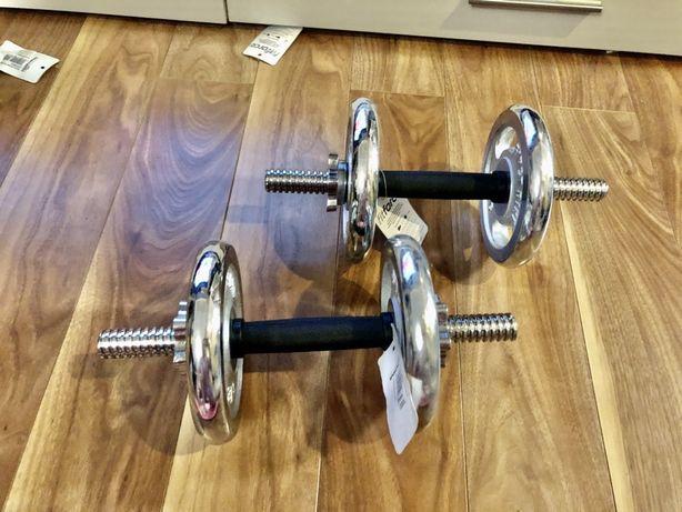 Set Super Gantere reglabile profesionale noi 8+8=16kg  pret 290 ron
