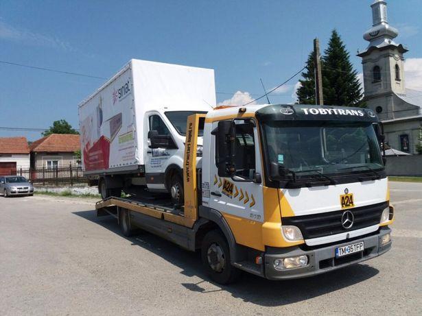 Tractari Remorcari recuperări auto autostrada A1 A6 Lugoj Faget buzias
