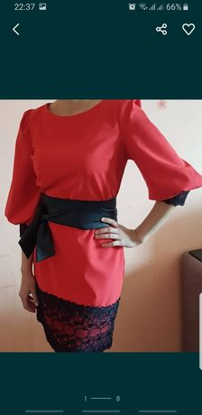Платье женское красное вечернее