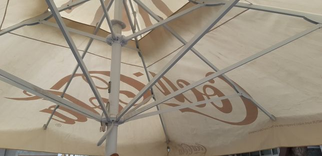 Prelata umbrela terasa Originala 3,5x3,5 m, SH  si NOUA