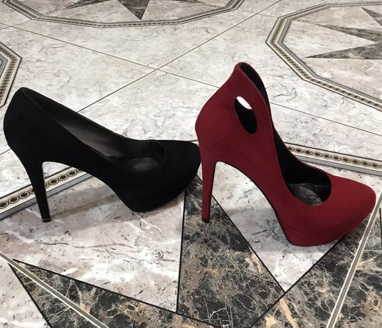 Pantofi piele intoarsa interior exterior