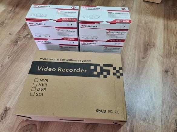 Видеонаблюдение - Комплект 4 камери с DVR
