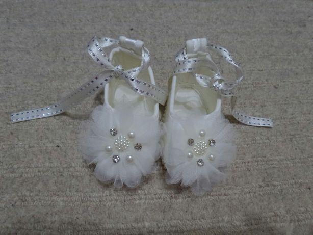 Pantofi matase crem marimea 17