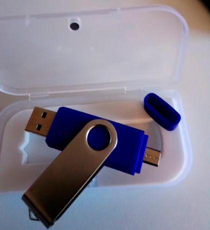 USB Флешка 16Gb Лучший для планшетных ПК и смартфонов с переходником