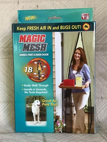 Магнитна мрежа против насекоми мухи комари комарник MAGIC МЕСН 210/90