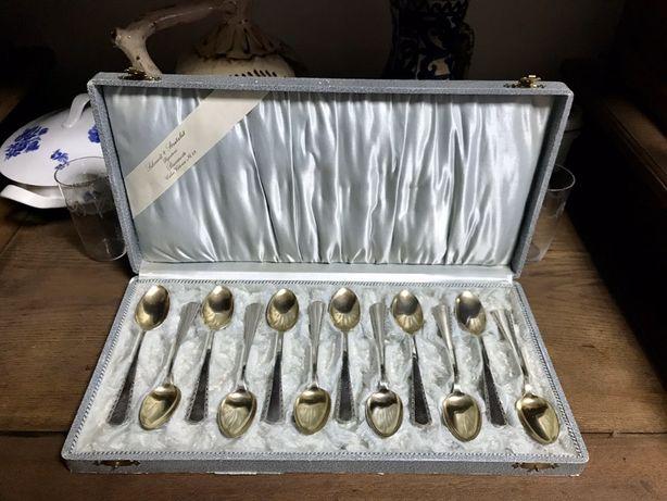 1601at 12 lingurite argint Art Nouveau Schmidt & Stratulat Bucuresti.