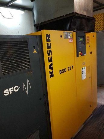 Compresor cu surub Kaeser tip BSD72T SFC/11bar , 37 kw