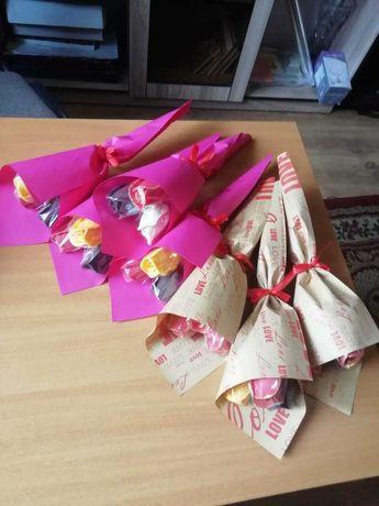 Шоколадные розы оригинальный подарок даме и учителю! Разные виды!