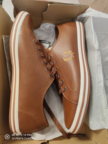 Fred Perry B7163 Kingston leather trainers in tan, nr 44
