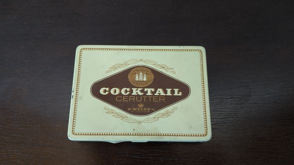 Метална кутия от цигари - COCKTAIL CERUTTER - Made in Denmark