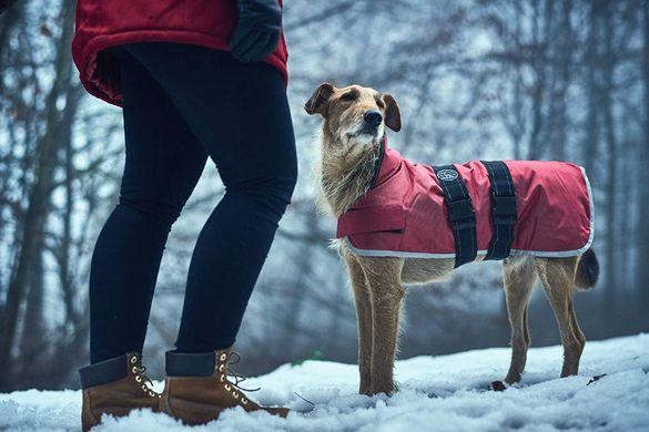 Палто за кучета Hunter,водоустойчиво, светлоотразяващо, сиво, 40 см