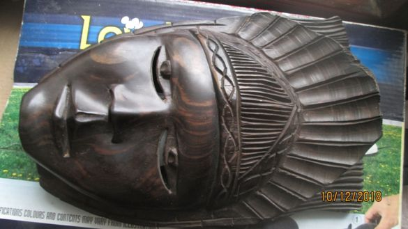 +Продавам маска от махагон - дърворезба,БАРТЕР ЗА КОЛЕЛО